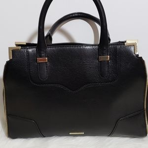 Rebecca Mincoff Black Leather Handbag